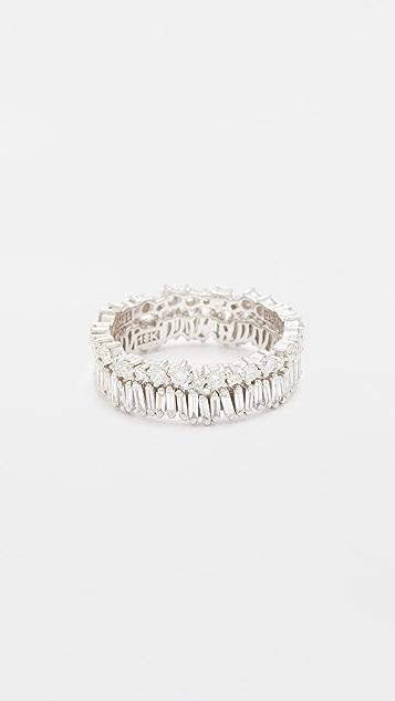 Suzanne Kalan 18k 烟花金钻石双指环戒指