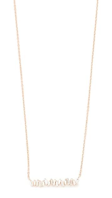Suzanne Kalan Fireworks 18k Gold Vertical Baguette Necklace