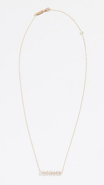 Suzanne Kalan Колье Fireworks из 18-каратного золота с вертикальными камнями в оправе «багет»