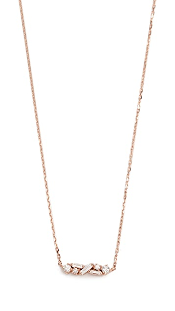 Suzanne Kalan Fireworks 18k Gold Diamond Necklace