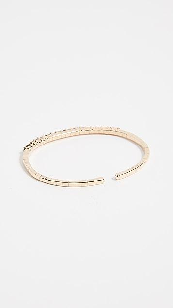 Suzanne Kalan 18k Gold Rainbow Fireworks Cuff Bracelet