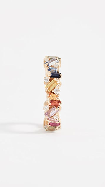 Suzanne Kalan 18k Gold Rainbow Fireworks Ring