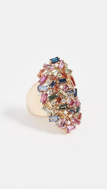 Suzanne Kalan 18K Gold Fireworks Rainbow Ring
