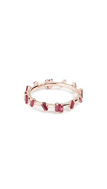 Suzanne Kalan 18k Gold Ruby Barbwire Ring