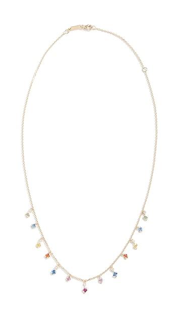 Suzanne Kalan 18k Gold Diamond & Sapphire Necklace