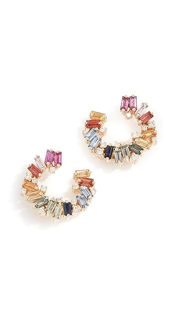 Suzanne Kalan 18k Rainbow Spiral Earrings