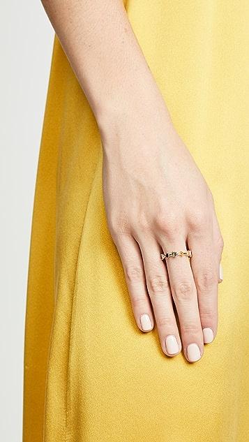 Suzanne Kalan 18k Fireworks Barb Baguette Ring