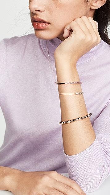 Suzanne Kalan 18k Rose Gold Diamond & Pink Sapphire Bangle Bracelet