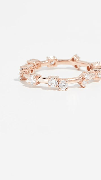 Suzanne Kalan 18k Rose Gold Barbwire Ring