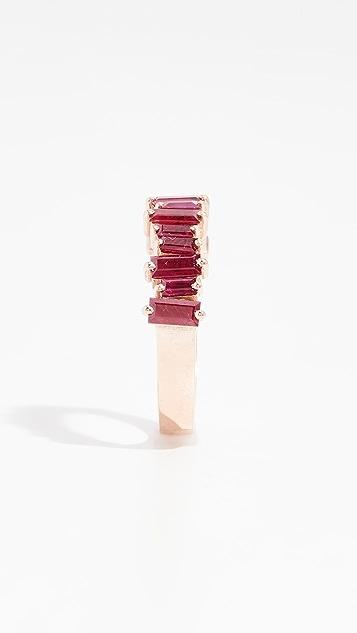 Suzanne Kalan Кольцо с рубином Halfway из 18-каратного розового золота
