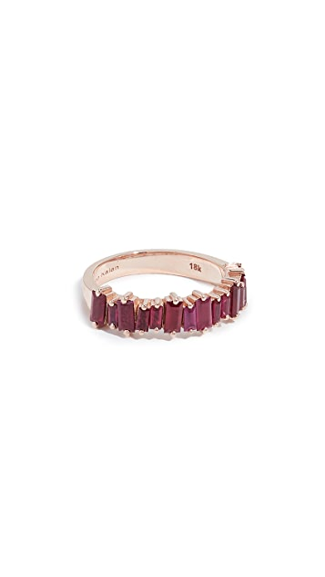Suzanne Kalan 18k 玫瑰金半红宝石戒指