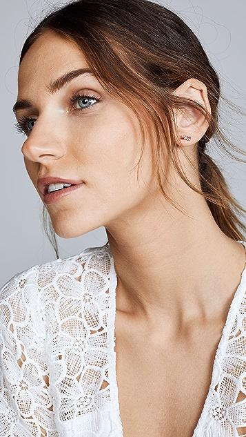 Suzanne Kalan 18k Rose Gold Multi Cluster Stud Earrings