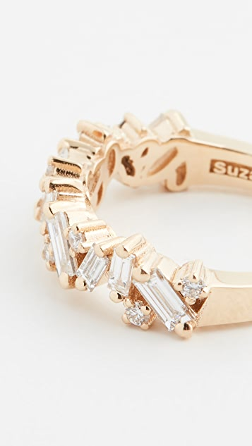 Suzanne Kalan 18k Gold Fireworks New Classic Mix Half Eternity Band