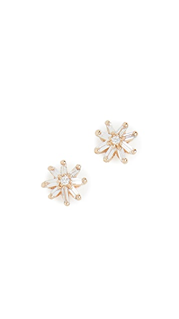 Suzanne Kalan 18k Yellow Gold Small Starburst Stud Earrings