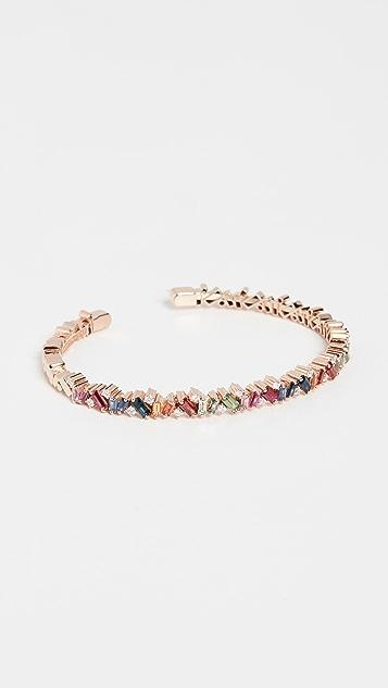 Suzanne Kalan 18k Rose Gold Bracelet with Round White Diamonds