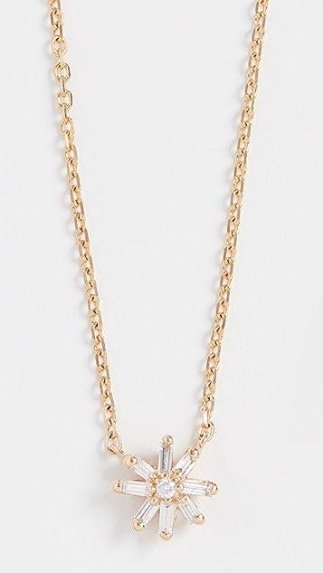 Suzanne Kalan 18k Yellow Gold Small Starburst Pendant Necklace