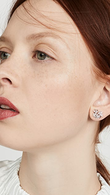 Suzanne Kalan 18k White Gold Post Earrings