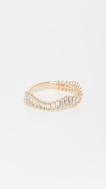 Suzanne Kalan 18k Yellow Gold Way Wave Ring