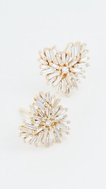 Suzanne Kalan 18k Yellow Gold Post Heart Earrings