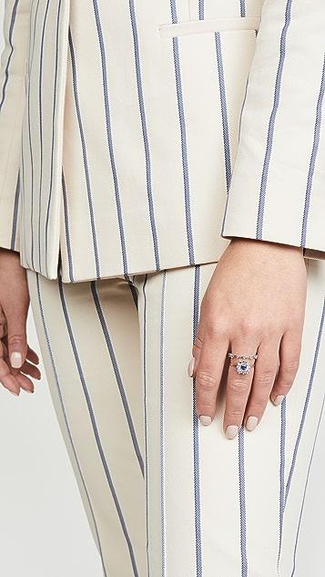 Suzanne Kalan 18k 白金白钻戒指
