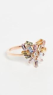 Suzanne Kalan 18k Rose Gold Pastel Fireworks Small Ring