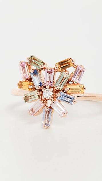 Suzanne Kalan 18k Rose Gold Pastel Fireworks Small Ring