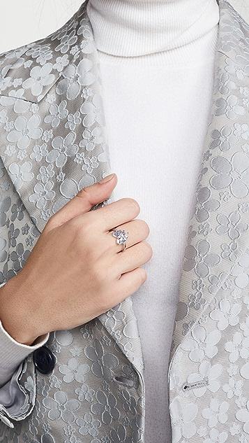 Suzanne Kalan 18k 白金烟花小号圆形戒指
