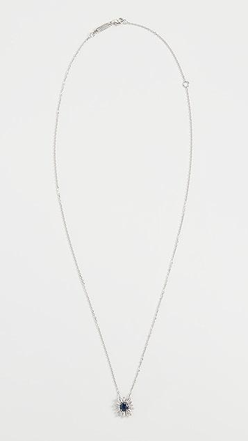 Suzanne Kalan 18k 白金深蓝色蓝宝石项链