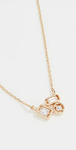 Suzanne Kalan - 18k Yellow Gold Inlay Collection Cluster Necklace
