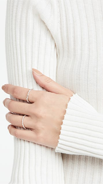 Suzanne Kalan 18K White Gold Fireworks Thin Mix Eternity Ring