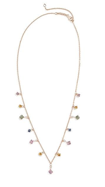 Suzanne Kalan 18k Rose Gold Pastel Dangle Necklace