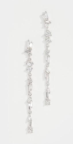 Suzanne Kalan - 18k White Gold Dangle Earrings