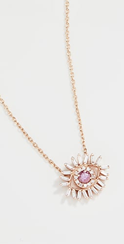 Suzanne Kalan - 18k Rose Gold Mini Evil Eye Necklace