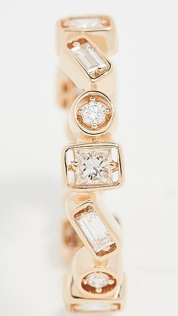 Suzanne Kalan 18k 黄金镶嵌系列钻石永恒细指戒