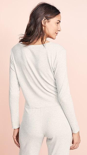Skarlett Blue Daydream Cropped Long Sleeve Shirt