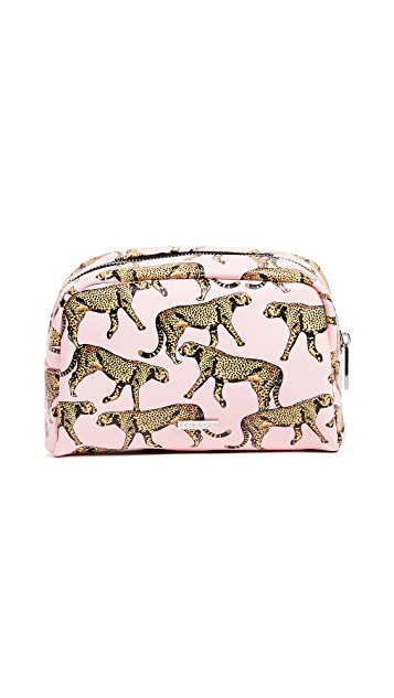 Skinnydip Leopard Makeup Bag