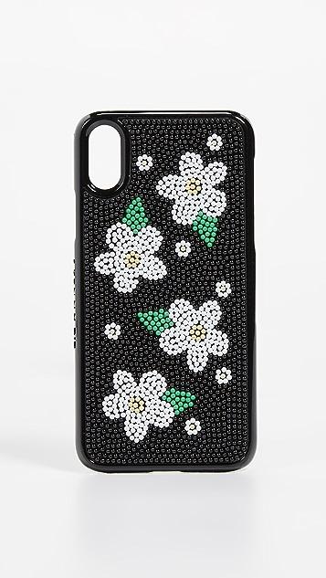 Skinnydip Расшитый бисером чехол Daisy для iPhone XS MAX