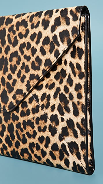 Skinnydip Leopard Envelope Laptop Sleeve