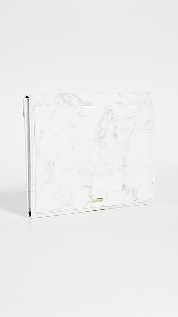 Skinnydip 大理石纹交叠电脑包