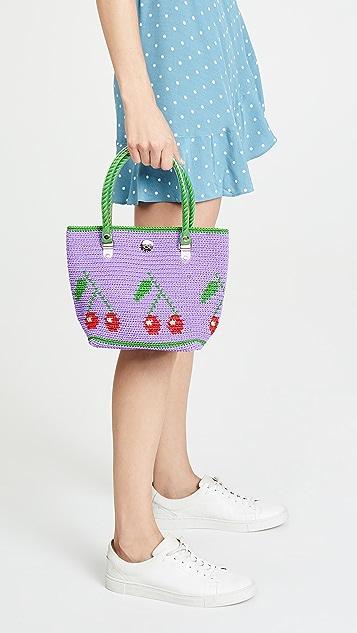 Skipping Girl Миниатюрная объемная сумка с короткими ручками
