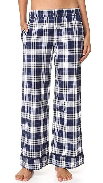 Skin Woven Plaid Pants