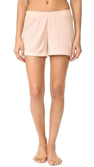Skin Waffle Shorts with Lace