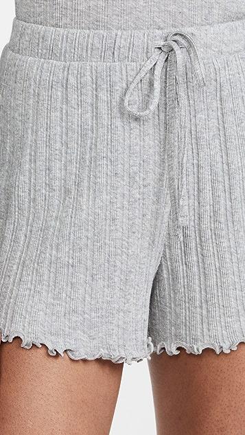 Skin Randi 锯齿边短裤