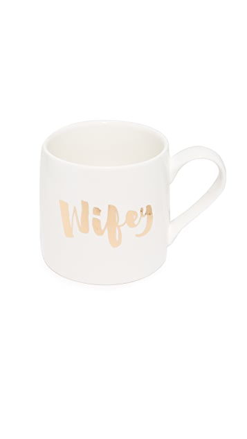 Slant Collections Jumbo Wifey Hubby Coffee Mug Set
