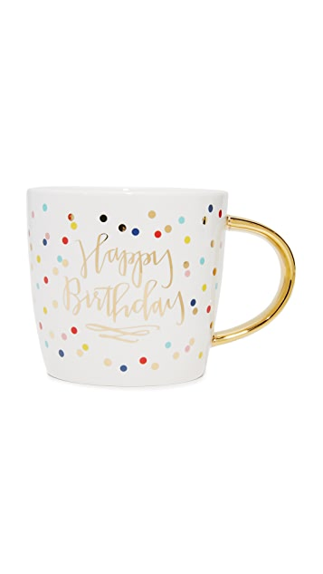 Slant Collections Happy Birthday Coffee Mug