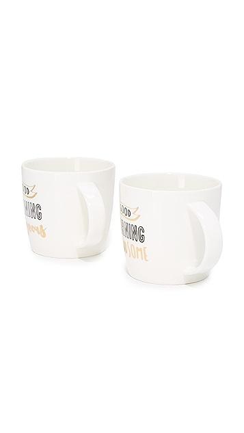 Slant Collections Good Morning Coffee Mug Set