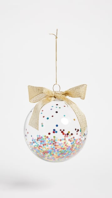 Slant Collections Confetti Glass Ornament