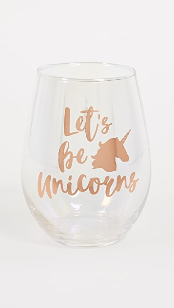 Slant Collections Let's Be Unicorns Stemless Wine Glass