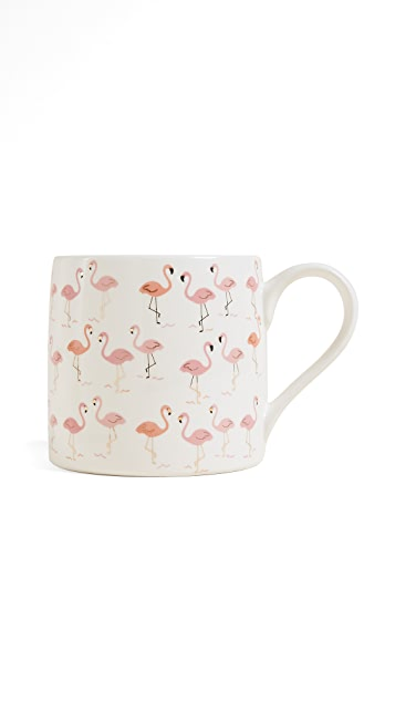 Slant Collections Flamingo Jumbo Ceramic Coffee Mug