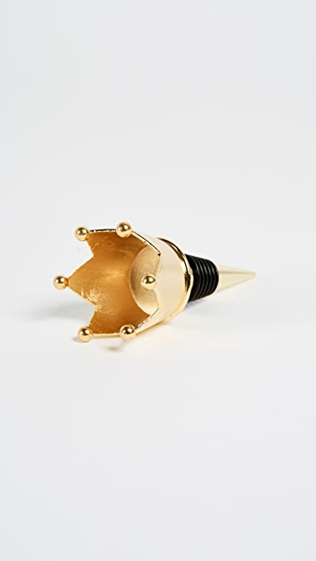 Slant Collections Crown Bottle Stopper
